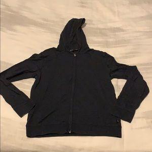 Hugo Boss heather charcoal zip hoodie